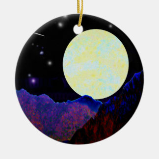 Valley of the Moon Round Ceramic Ornament