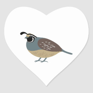 Valley Quail Heart Sticker