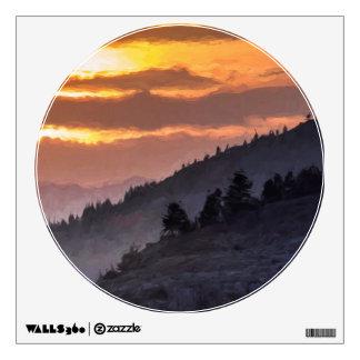 Valley Sunset Wall Sticker