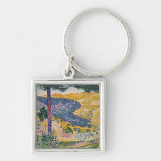 Valley with Fir Shade on the Mountain Keychain
