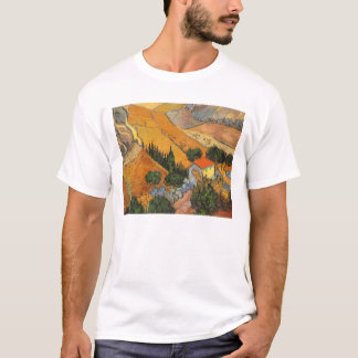 Valley with Ploughman by Vincent van Gogh T-Shirt