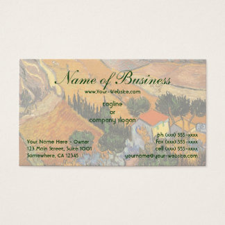 Valley with Ploughman From Above; Vincent van Gogh Business Card