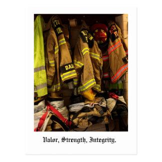 Valor, Strength, Integrity. Postcard