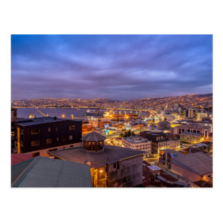 Valparaiso AT Night Postcard