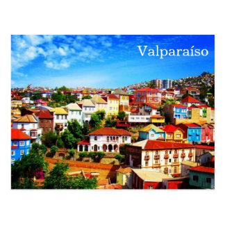 valparaíso chile postcard