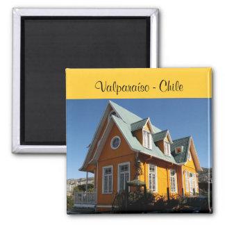 Valparaíso - Chile Square Magnet
