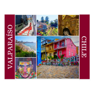 valparaíso scenes postcard