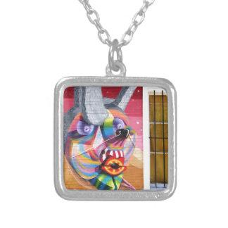 Valparaiso Street Art 39 Silver Plated Necklace