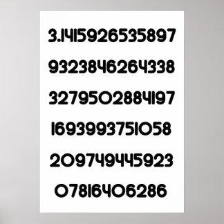 Value of Pi Pie 3.14159 Mathematical Constant π Poster