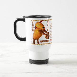 Valxart 1955 2015 2075 WoodSheep zodiac Capricorn Travel Mug