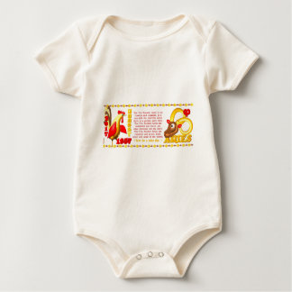Valxart 1957 2017 Zodiac fire rooster born Aries Baby Bodysuit