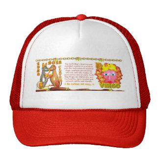 Valxart 1958 2018 2078 EarthDog zodiac Virgo Trucker Hat