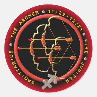 Valxart 1966 2026 Fire Horse zodiac Sagittarius Classic Round Sticker