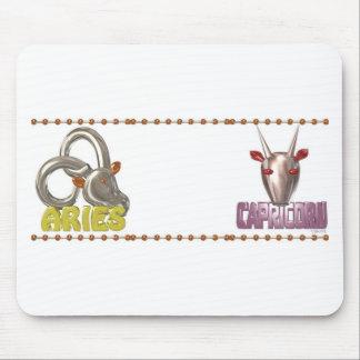 Valxart Aries Capricorn zodiac friendship Mouse Pad