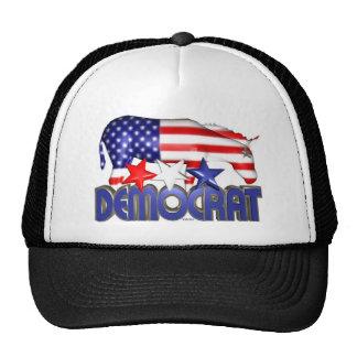 ValxArt Democratic USA flag donkey Mesh Hats