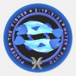 valxart Pisces zodiac logo Round Sticker