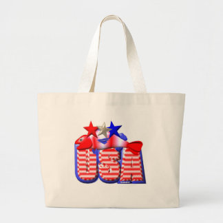 Valxart USA STAR RED,WHITE AND BLUE FISH Jumbo Tote Bag