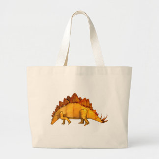 Valxart wood stegosaurus gifts large tote bag