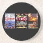 Valxart zodiac Cusp of Cancer Leo Beverage Coasters