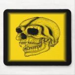 Vampir Schädel schwarz gelb Zeichnung Mousepads