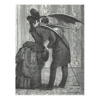 Vampire à ailes victorien/gothique d'un baiser cartes postales