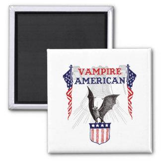 Vampire American Square Magnet