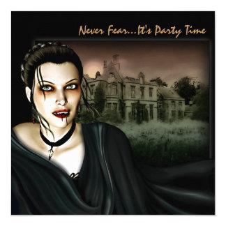 Vampire At The Hall Gothic Party Invitation