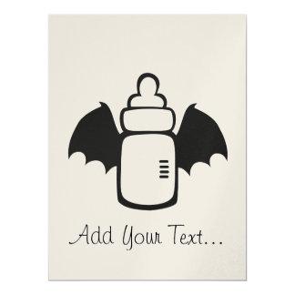 "Vampire Baby bottle 6.5"" X 8.75"" Invitation Card"