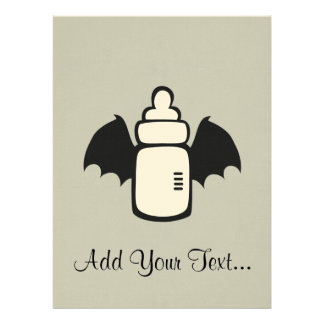 Vampire Baby bottle Personalized Invitation