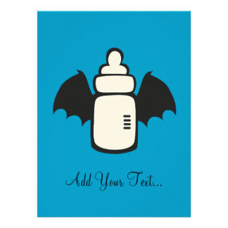 Vampire Baby bottle Personalized Invites