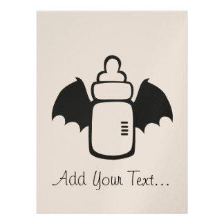 Vampire Baby bottle Invitations