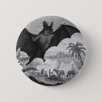 Vampire Bat 2 Inch Round Button