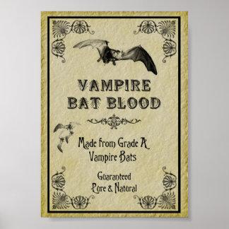 Vampire Bat Blood Halloween Print