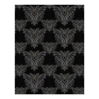 vampire bat Halloween damask scrapbook paper