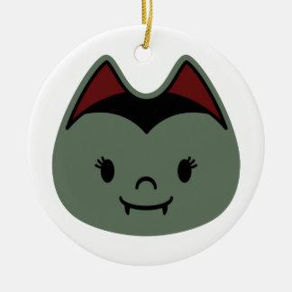 Vampire Bat Kids Round Ceramic Ornament