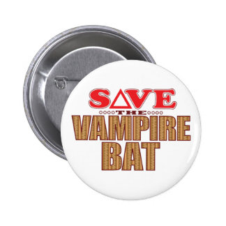 Vampire Bat Save 2 Inch Round Button