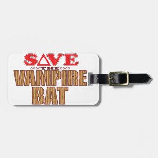 Vampire Bat Save Luggage Tag