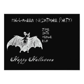Vampire Bat Wishes Custom Invitation