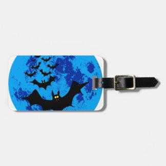 Vampire Bats Against The Blue Moon Bag Tag