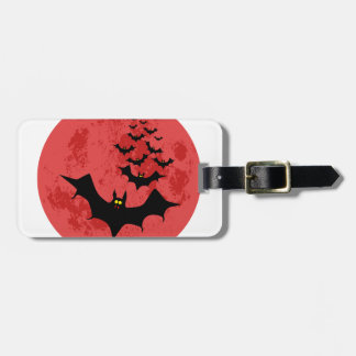 Vampire Bats Against The Red Moon Luggage Tag