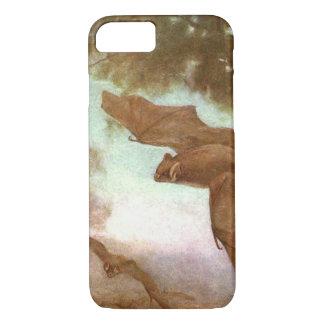 Vampire Bats by CE Swan, Vintage Wild Animal iPhone 7 Case