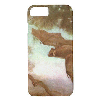 Vampire Bats by CE Swan, Vintage Wild Animal iPhone 8/7 Case