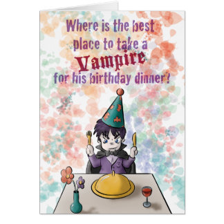 Vampire Birthday Card