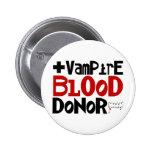 Vampire Blood Donor 2 Inch Round Button