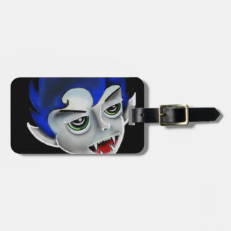 vampire boy luggage tag