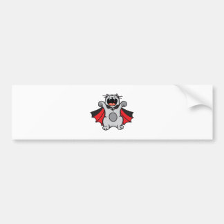 Vampire Cat Bumper Sticker