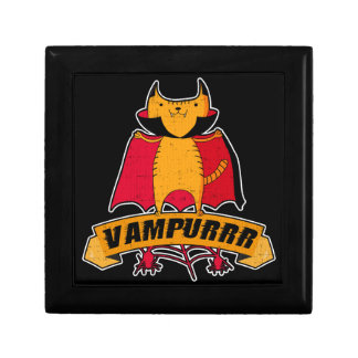 Vampire Cat Cute Cartoon Pun -  Vampurrr Halloween Gift Box