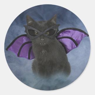 Vampire Cat Halloween Stickers
