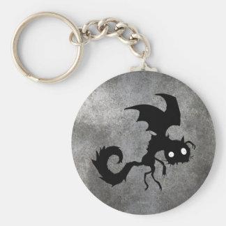 Vampire Cat Silhouette Keychain