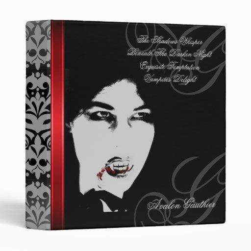 Vampire Count Black Exquisite Halloween Binder